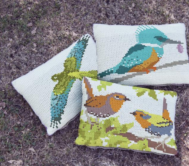 3 Birds crochet pattern set