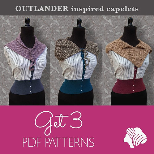Bella, Epica and Lady capelet set / PDF instant download