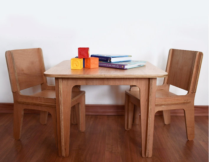 HAPPYSIT set mesa + 2 sillas / table + 2 chairs set