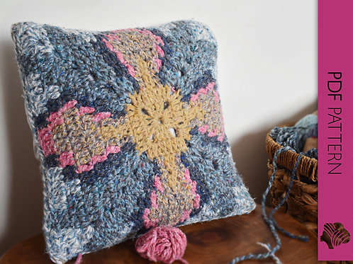 Country cushion / Crochet PDF instant download