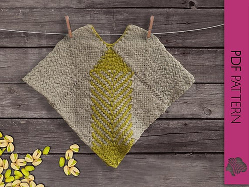Pistachios in Winter Baby Boy poncho / PDF instant download
