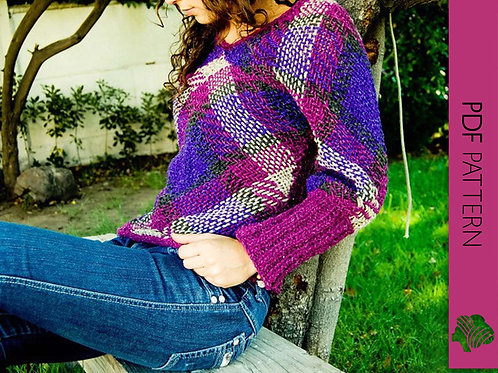 Tartan sweater / PDF instant download