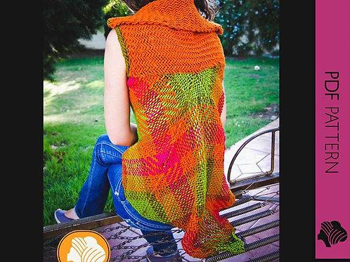 Penguin wrap vest / PDF instant download