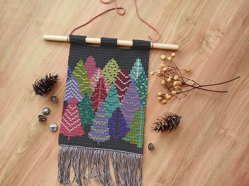 It is snowing tapestry / Tapestry crochet PDF instant download