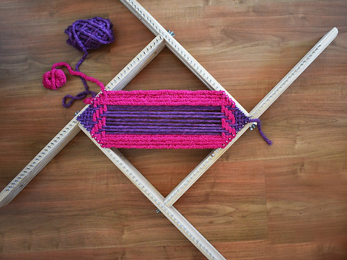 "Adjustable weaving loom max 20"" / Shipping included only to US"