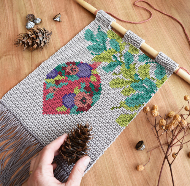Tapestry crochet wall hanging