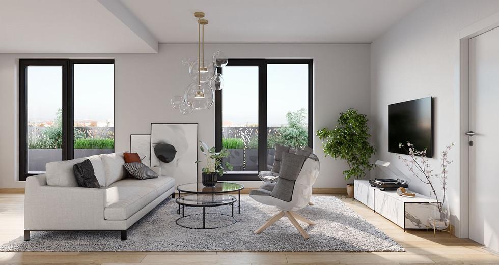 Rezidence Suchdol_vizualizace interieru