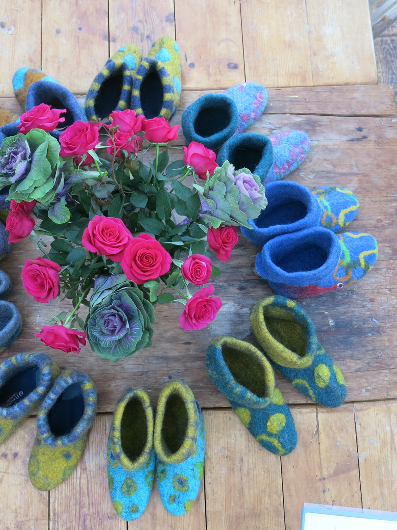 Sarah Waters Felt Slipper Workshop