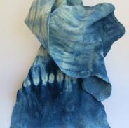 Sarah Waters 'Felt, silk and cotton Indigo Dyes Scarf'