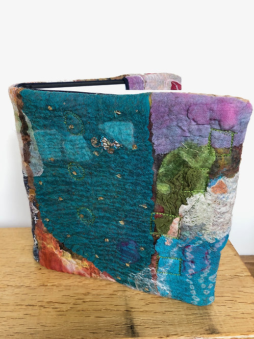 Hand Felted and Stitched Book Cover (removable) and Seawhite Artbook inc