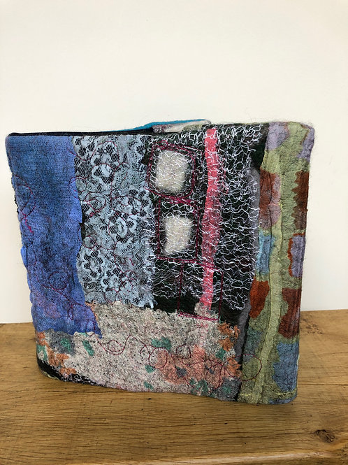 Hand Felted and Stitched Book Cover (removable) and Seawhite Artbook included