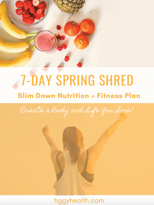 7 Day Spring Shred - Slim Down Fitness and Nutrition Plan