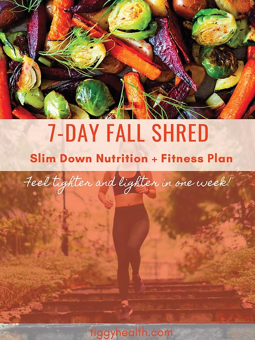7 Day Fall Shred - Slim Down Fitness and Nutrition Program
