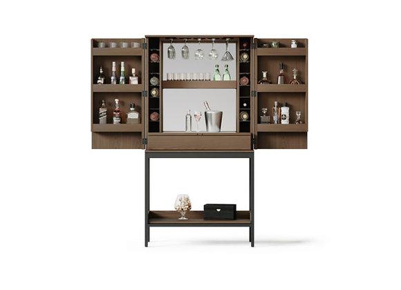 Cosmo 5720 Home Bar & Bar Cabinet