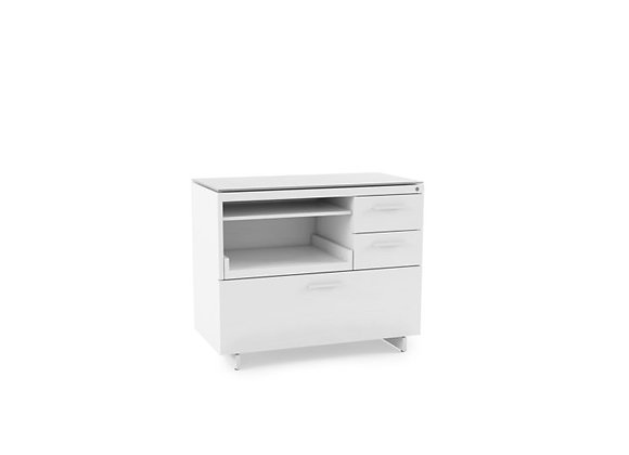 Centro 6417 White Multifunction Office Cabinet