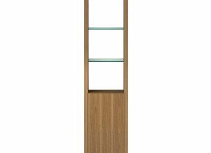 Linea 5801 Expandable Narrow Bookshelf With Glass Shelves