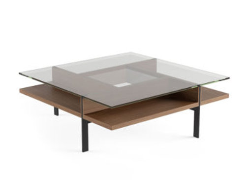 Terrace 1150 Modern Square Glass Coffee Table