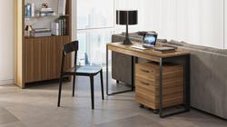 Linea-6222-modern-home-office-slim-console-laptop-desk-BDI-walnut-black