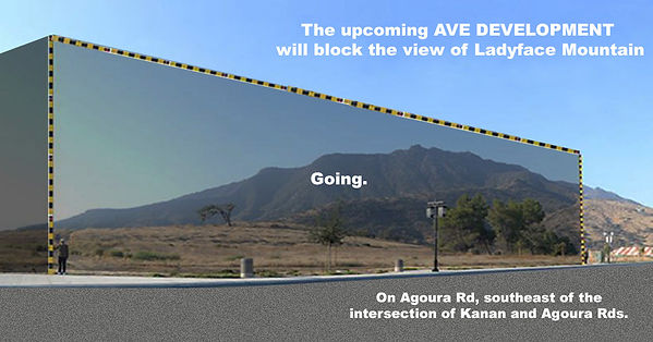visual showing ladyface mountain blocked by AVE project