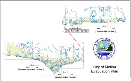 City of Malibu Evacuation Corridors by Z