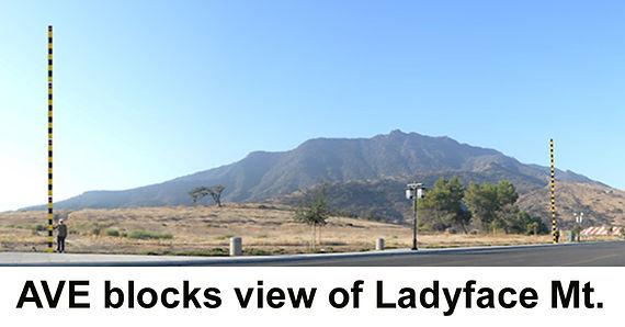 AVE blocks Ladyface Mountain
