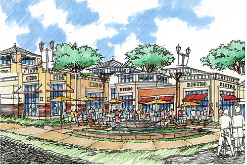 Agoura Town Center from developer's site