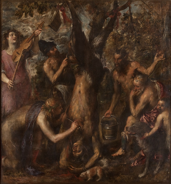 Tiziano Vecellio, Apollo and Marsyas, circa 1570