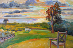 Sunset Dark Clouds Our House 24x3