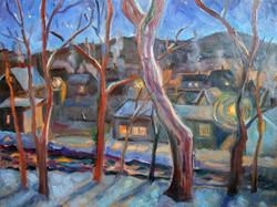 Nighttime at Joan's Winter 18x24