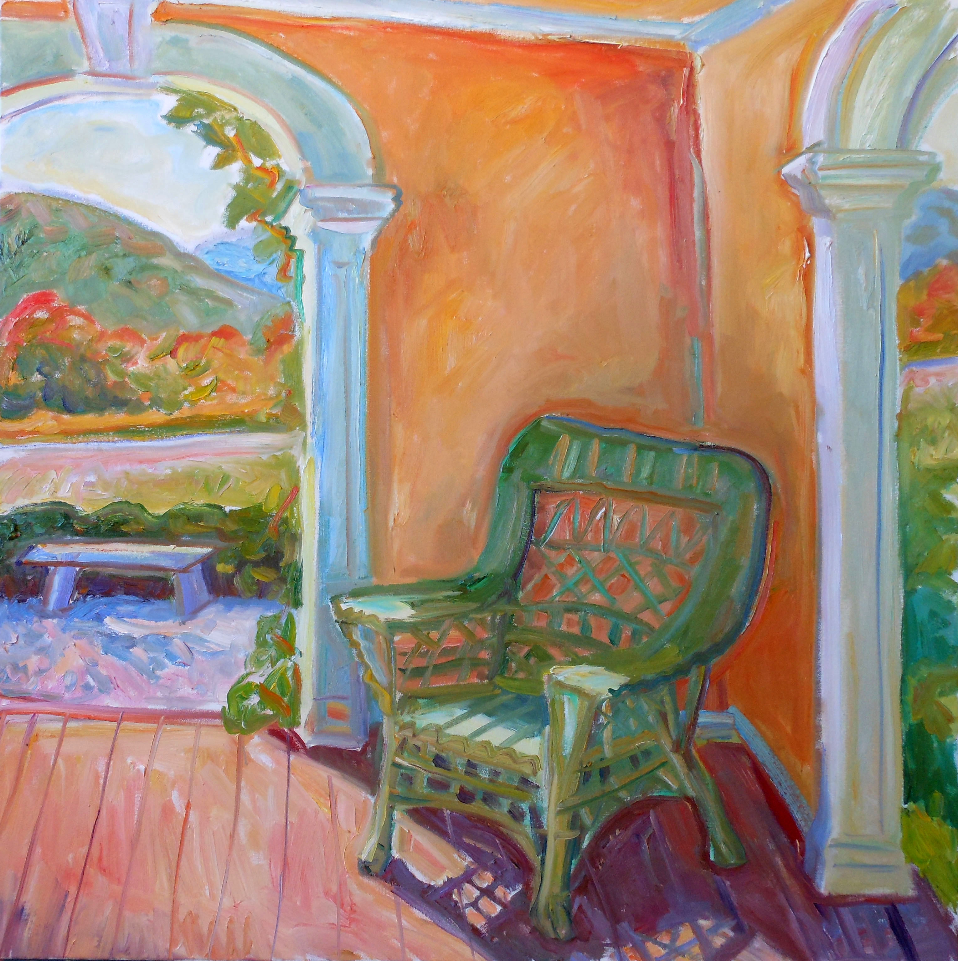 Chair at Chesterwood 36x36 oil