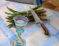 Knife Asparagus Water I 16x20