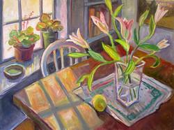 Lilies at Margot's 30x40