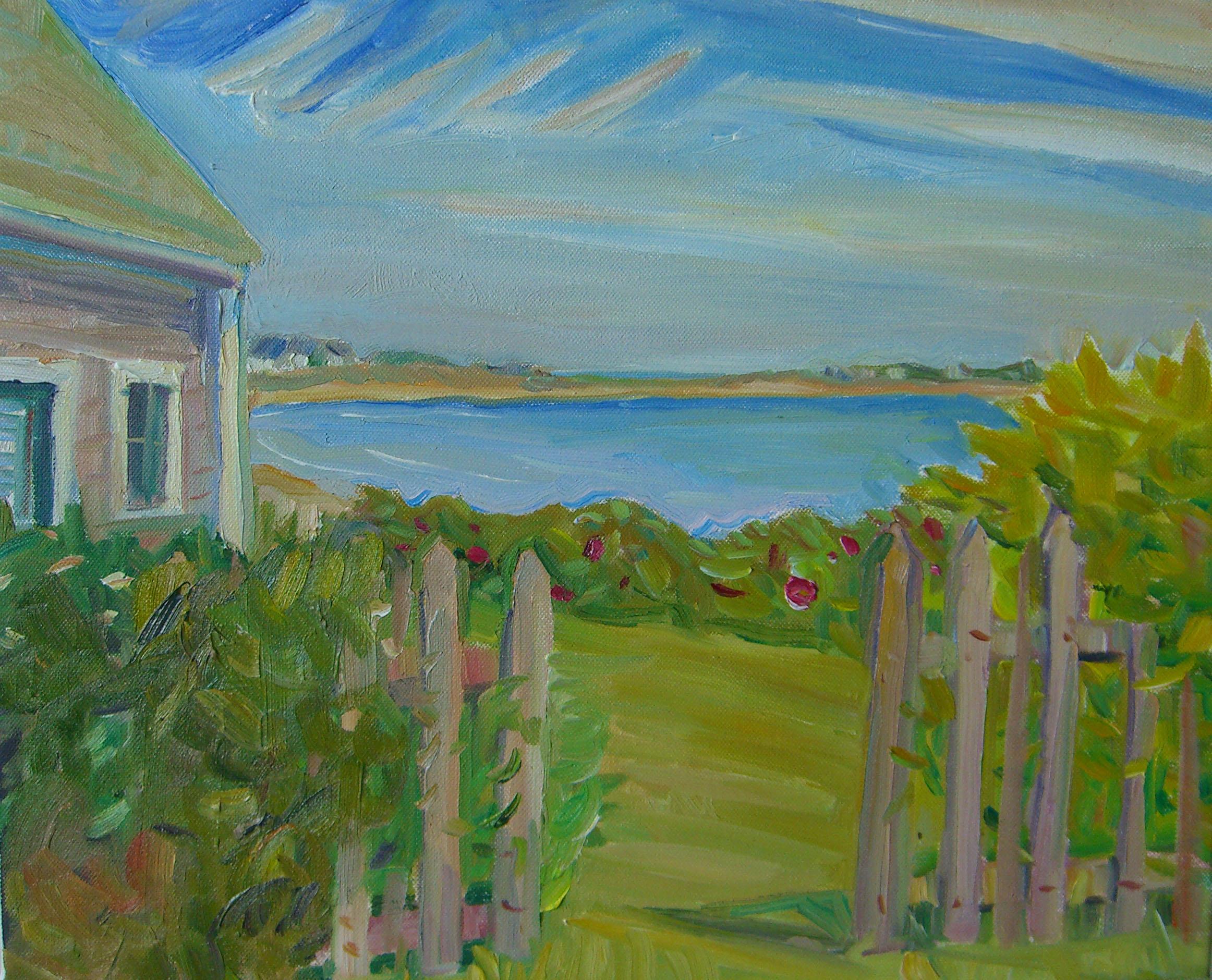 Fence House Cresent Beach 14x16