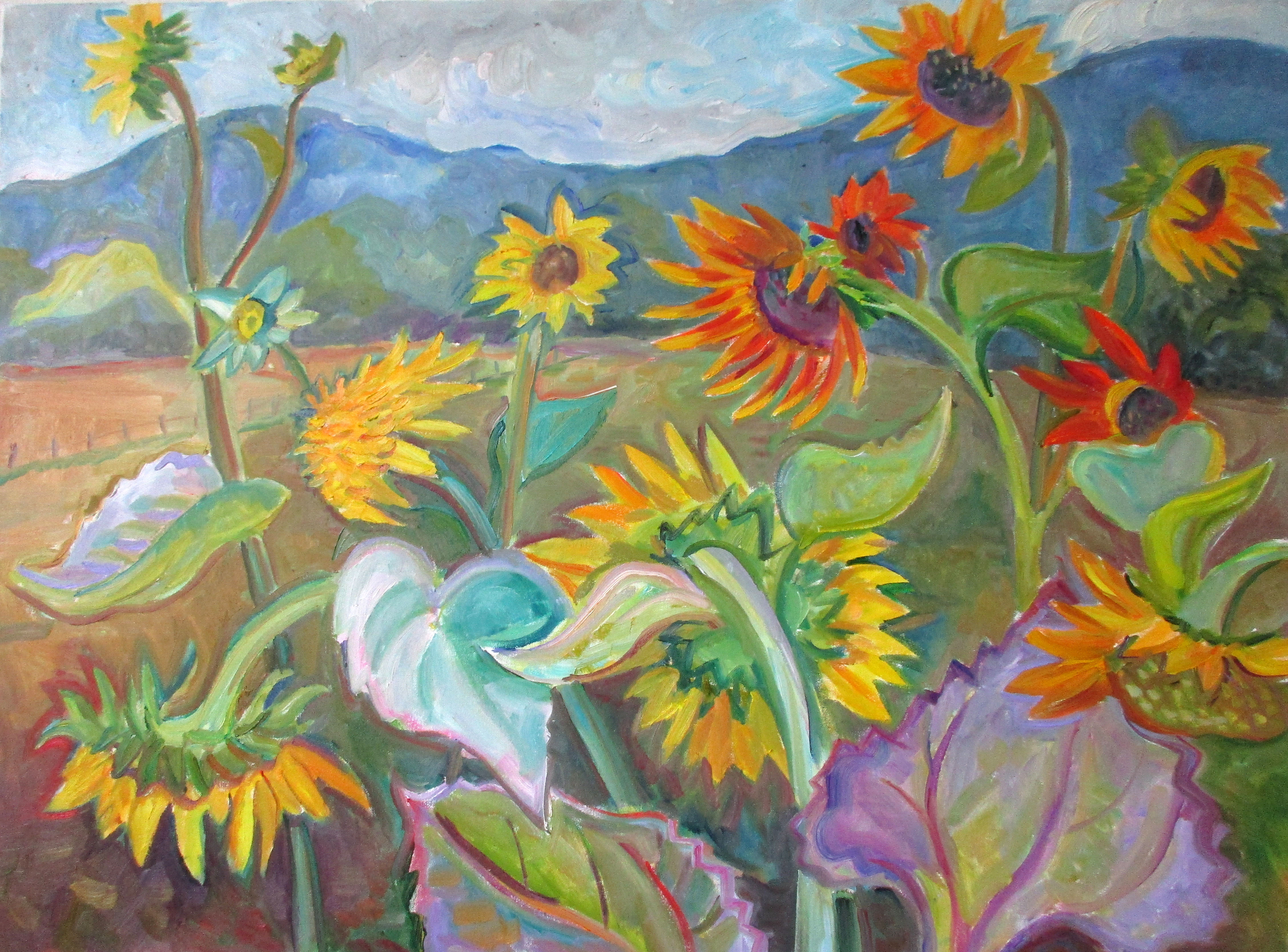 Sunflowers at Naumkeg 30x40