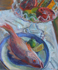 Red Snapper and Compote 20x24