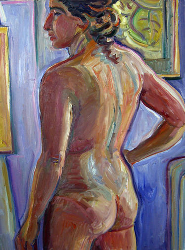 Large Nude Rear View 40x30