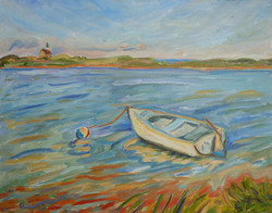 Dinghy at North Point 16x20