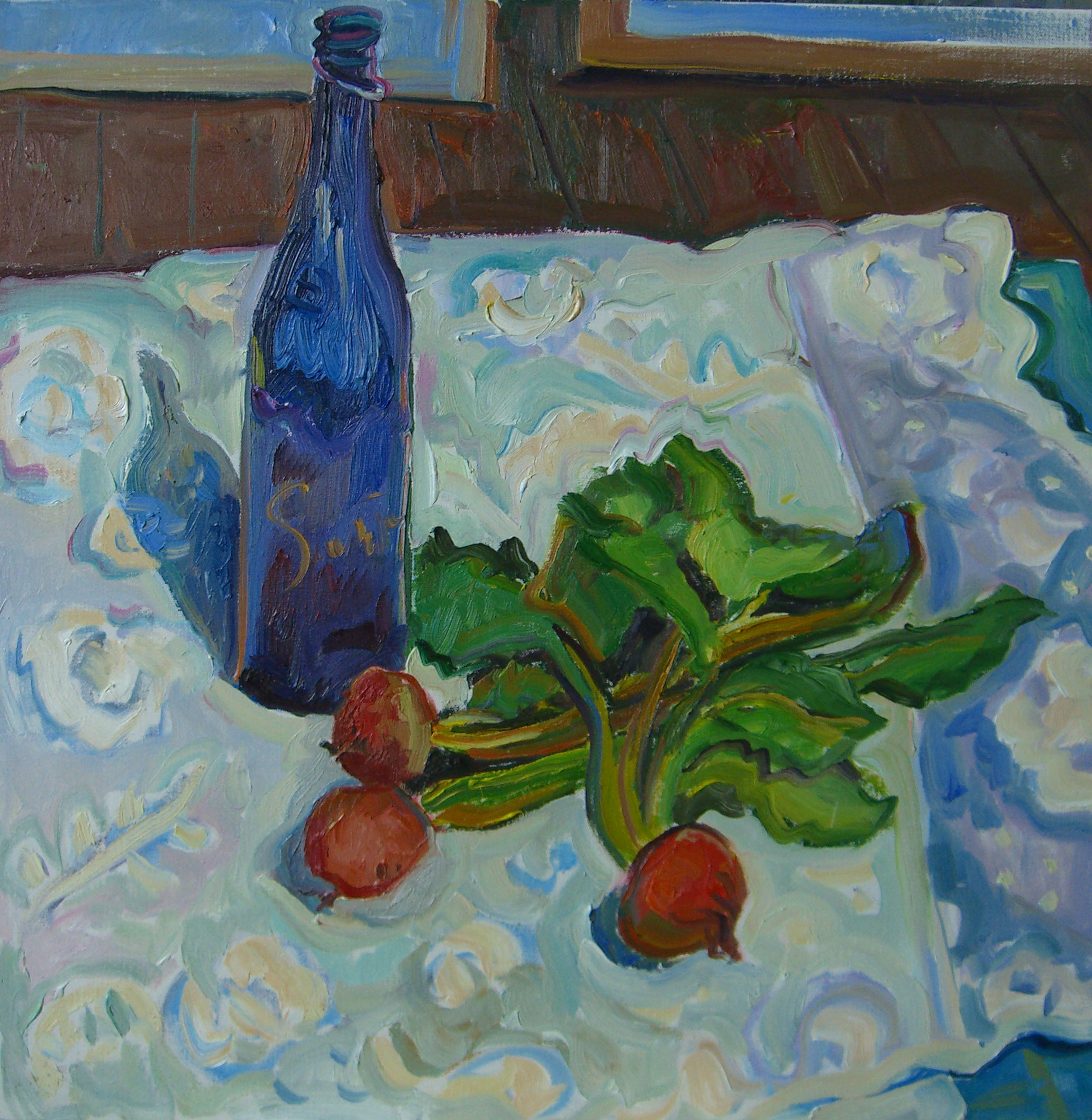 Blue Bottle  and Beets 24x24