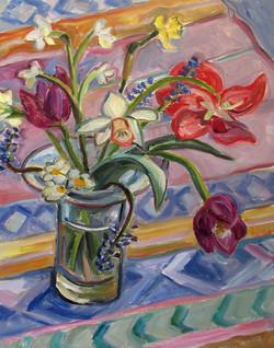 Spring Bouquet wth Three Tulips 1