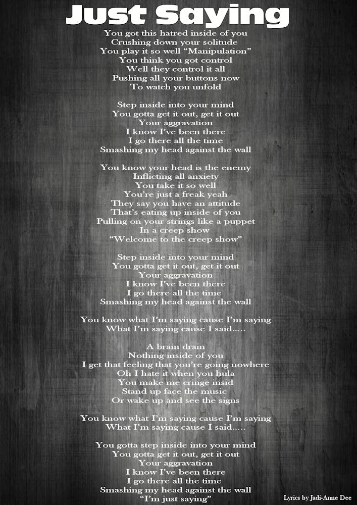 4-Lyrics-Just Saying