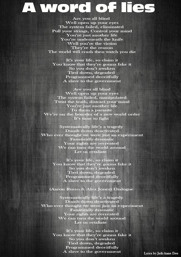 12-Lyrics-A word of lies