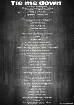 9-Lyrics-Tie me down
