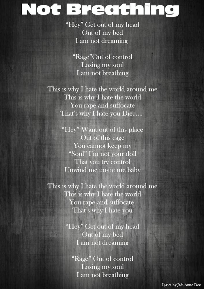 11-Lyrics-Not breathing