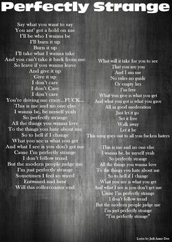 3-Lyrics-Perfectly strange