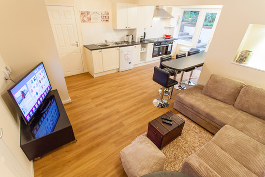Open plan communal living area