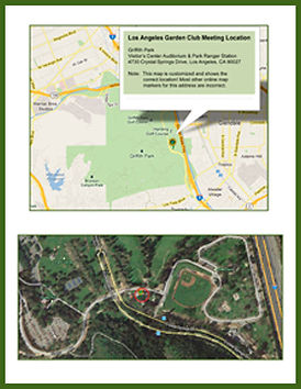 Los Angeles Garden Club Map