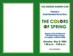 LAGC Flower Show Cover 2006