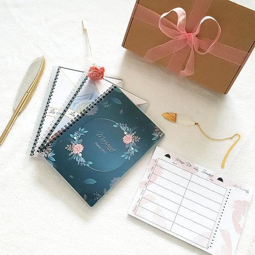 Coffret cadeau Planner 2021 classique+ Bloc menu + carnets de recett
