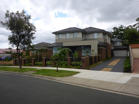 Landscape design for townhouses