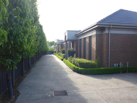 Landscape design for units